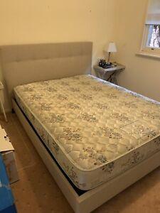 Amart queen bed frame & mattress