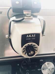 MINT VINTAGE AKAI ASE-22 HEADPHONES WITH STEREO VOLUME CONTROL