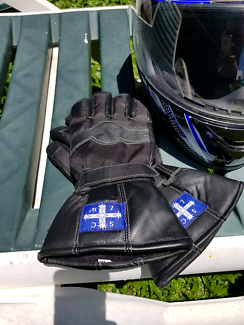New Motorbike helmet and leather gloves