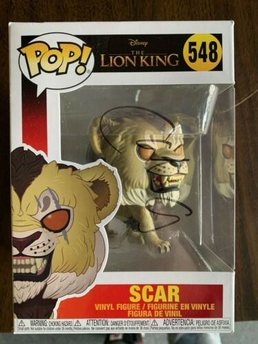 Disney The Lion King Chiwetel Ejiofor Funko Pop Autographed Signed COA