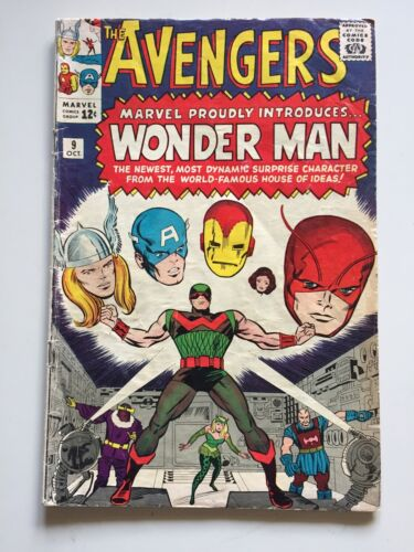 Avengers  #9  VG+  4.5  (see my grading photo)