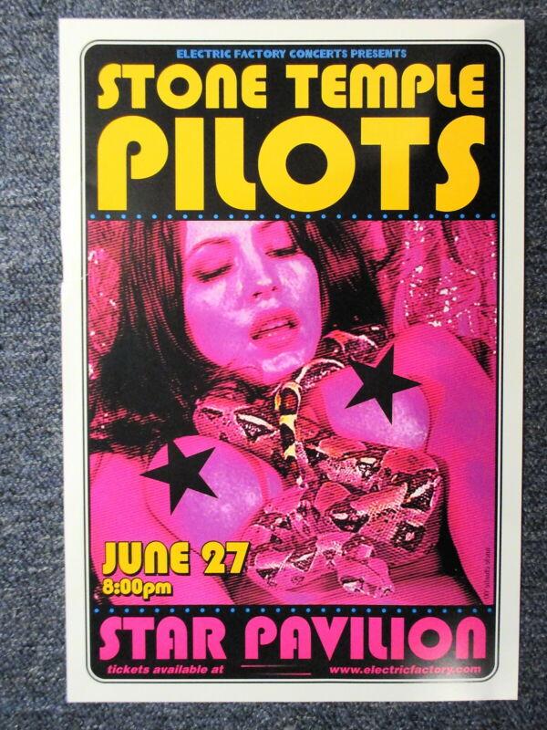 "Stone Temple Pilots Concert Poster Philadelphia June 27th, 2000, 11"" X 17"" !!"