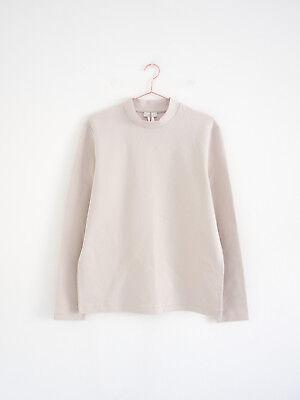 HOF115: COS Pullover baumwolle hellbeige / High-neck cotton sweatshirt ivory M High Neck Sweatshirt