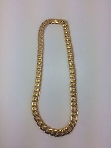 22KT CURB LINK SOLID GOLD CHAIN