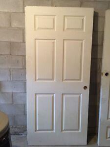 White wooden 6 panel door