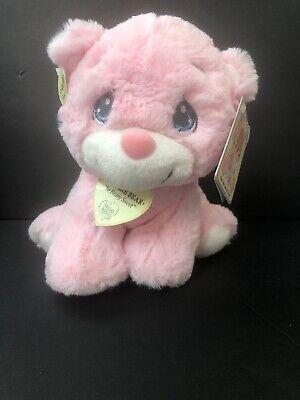 new  Precious Moments pink baby rattle teddy bear Plush  stuffed animal Charlie -