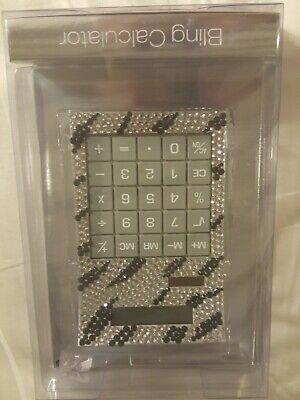 Bling Calculator Black And Silver New With Rhinestones Zebra Print