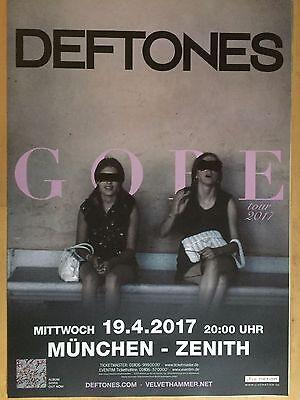 DEFTONES  2017  MÜNCHEN  ++ orig.Concert Poster -- Konzert Plakat  A1 NEU