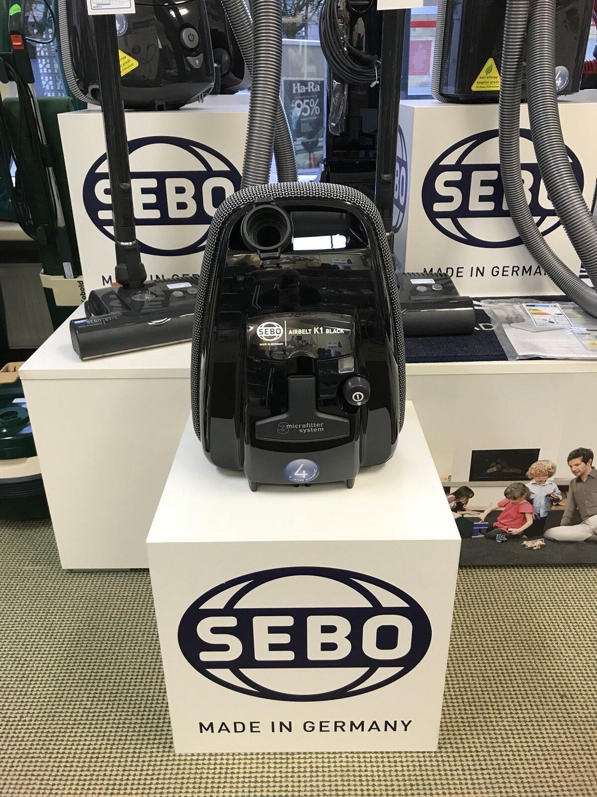 SEBO Airbelt K1 ONE Bodenstaubsauger mit 4 Jahren Garantie 8 Staubsaugerbeutel