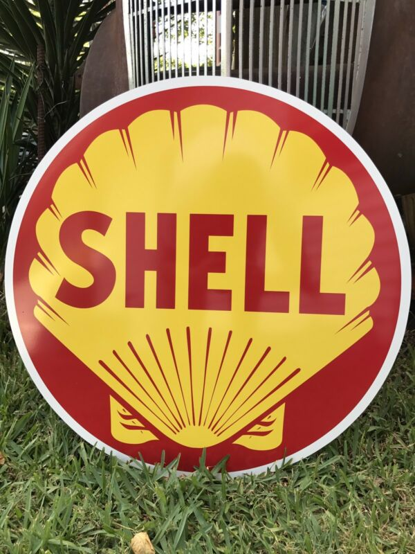 Antique Vintage Style Shell Oil Sign