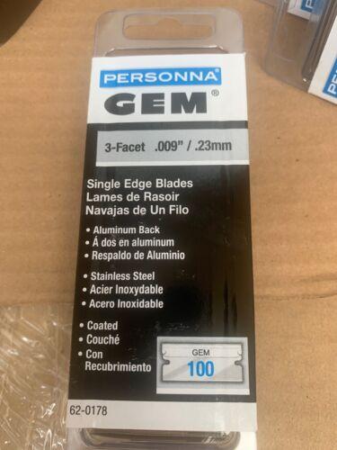 personna coated single edge razor blades 100