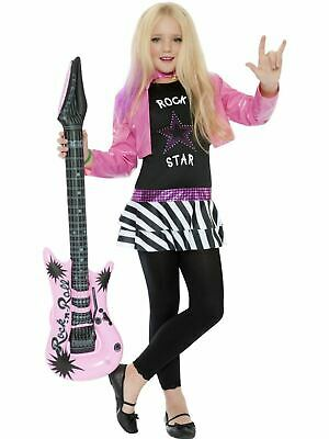 Kids Rock star Glam Girls Hannah Style Fancy Dress Costume Party Outfit