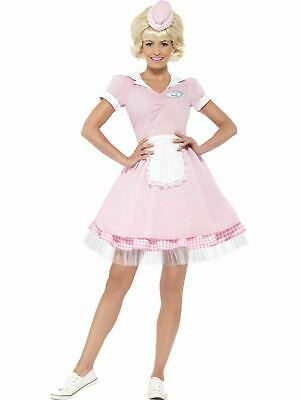 Sandy Grease Movie 1950s Ladies Fancy Dress Womens Costume Party Outfit soda (Grease Movie Fancy Dress Kostüme)