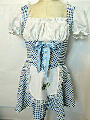 WIZARD OF OZ Dorothy Play/Theater Costume Checked Dress Teen 14-16 by Charades