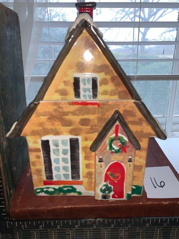 Vintage Lenox Christmas House Cookie Jar Lot 16