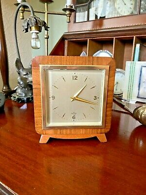 Vintage Elliott Mantel Clock FRENCH ESCAPT 11 JEWELS -  8 DAY EXCELLENT
