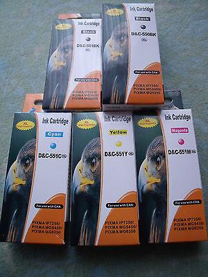 10 Druckerpatronen f. Canon Pixma IP7250 MX725 MG5450 MG6350 MX925 PGI550 CLI551