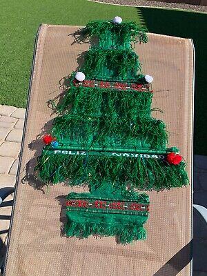 "CUTE VINTAGE MEDIUM 15"" WOVEN CHRISTMAS FELIZ NAVIDAD TREE HOLIDAY WALL HANGING"