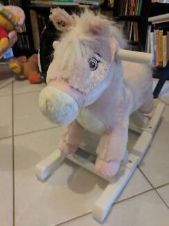 Pink ride on singing pony