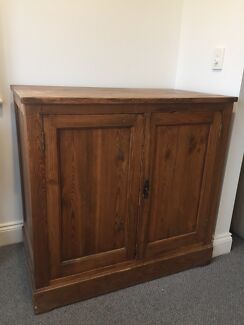 2 x solid wood cupboards
