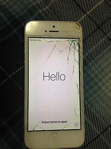 Cracked iPhone 5 -SOLD