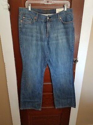 NWT JORDACHE Women's 12 Short Blue Cotton Spandex Classic Boot Mid Rise Jeans
