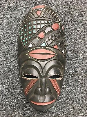 Lovely Mask African Wooden Exotic Painted (1)