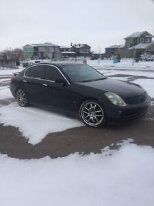 03 Infiniti g35 car starter and winter tires.!