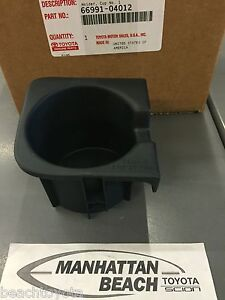 2010-2015 Toyota Tacoma W/BUCKET SEATS LEFT Front Console Cup Holder Insert