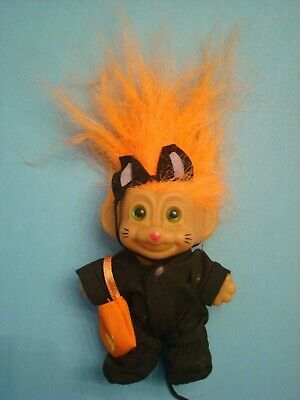 Troll Doll 3 1/2 Russ Halloween MOUSE! W Tail and Ears, Orange Hair and - Tails Doll Halloween