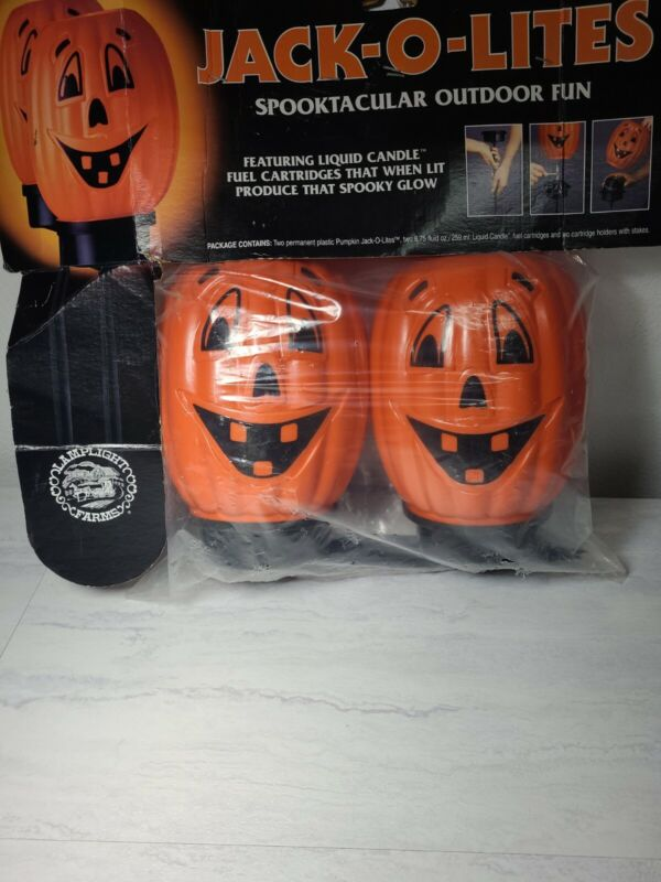 Jack-O-Lites Spooktacular Pumpkin Stakes Lamplight Farms Older/New Blow Mold