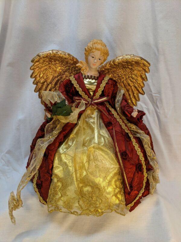 "Holiday Lane Angel Tree Topper 12"" Centerpiece Porcelain Head Hands Macys 2011"