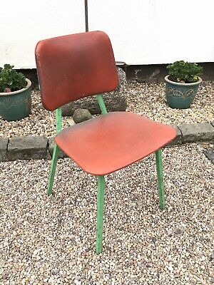 INDUSTRIAL VINTAGE RETRO ENGINEERS FACTORY SEAT CHAIR OFFICE
