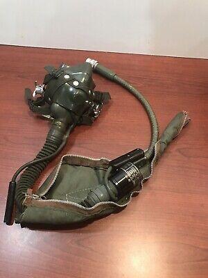 SIERRA MS 22001 MED Flight Helmet Oxygen Mask w Microphone  & Hoses Vintage 70's