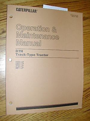 Cat Caterpillar D7h Operation Maintenance Manual Tractor Dozer 2rg 3xg 4fg 5bf
