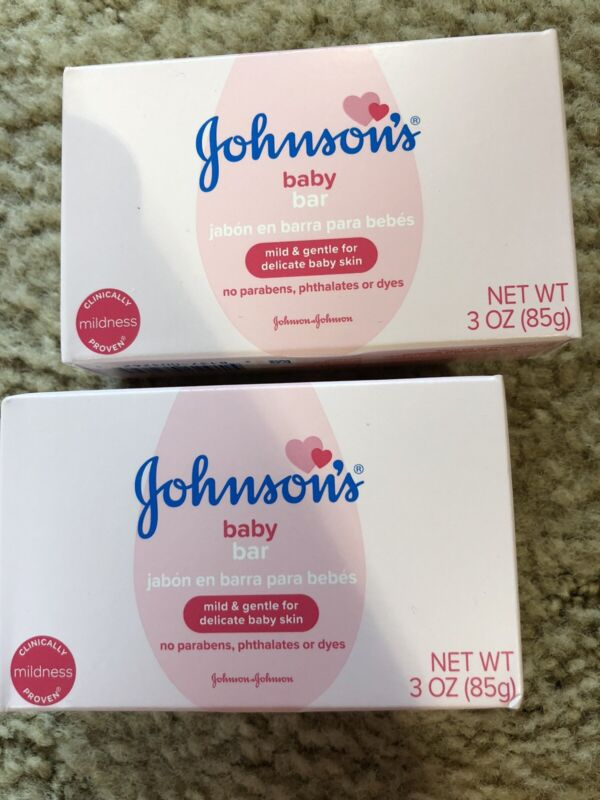 2 ~ Johnson & Johnson Baby Soap - 3 oz bars ~  Mild and Gentle for Delicate Skin