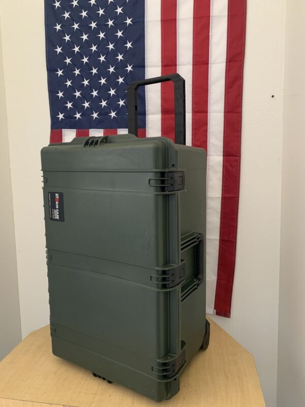 PELICAN STORM iM2975 OD Green Case With Wheels & Handle  -FREE SHIPPING-