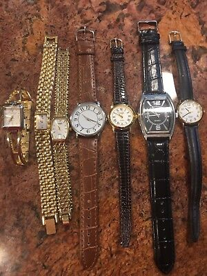Lot of Vintage Women's Watches Timex, Carriage, Pulsar, Vanity Fair, Time Quartz