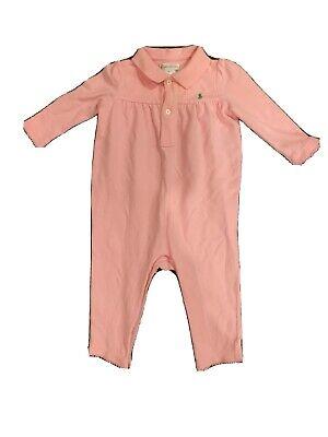 Ralph Lauren Baby Infant Girl's Jumper One-Piece Sz 9 Months Long Sleeve