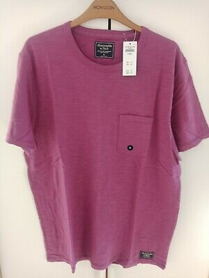 ABERCROMBIE AND FITCH POCKET TEE PURPLE COLOUR SIZE XL