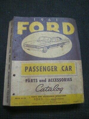 1961 Ford Parts and Accessories Catalog ~ Passenger Car
