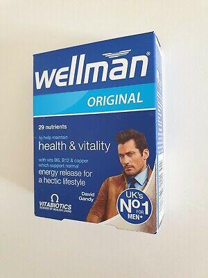 Wellman Original Health Vitality Supplements Vitabiotics 30 tablets pills