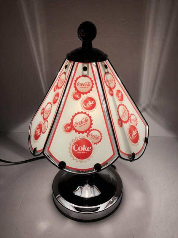 Vintage Coca-Cola Glass Touch Lamp Chrome