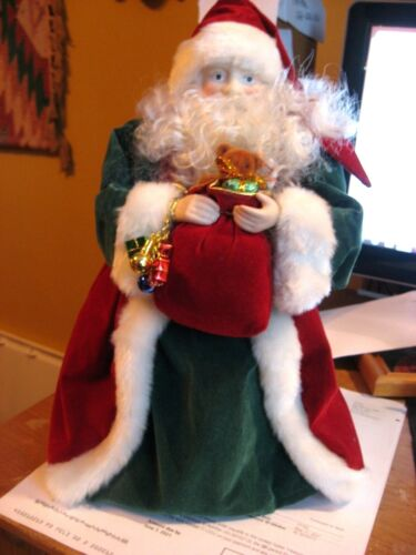 New SANTA HOLDING CHRISTMAS SACK Holiday Tree Topper Table Topper