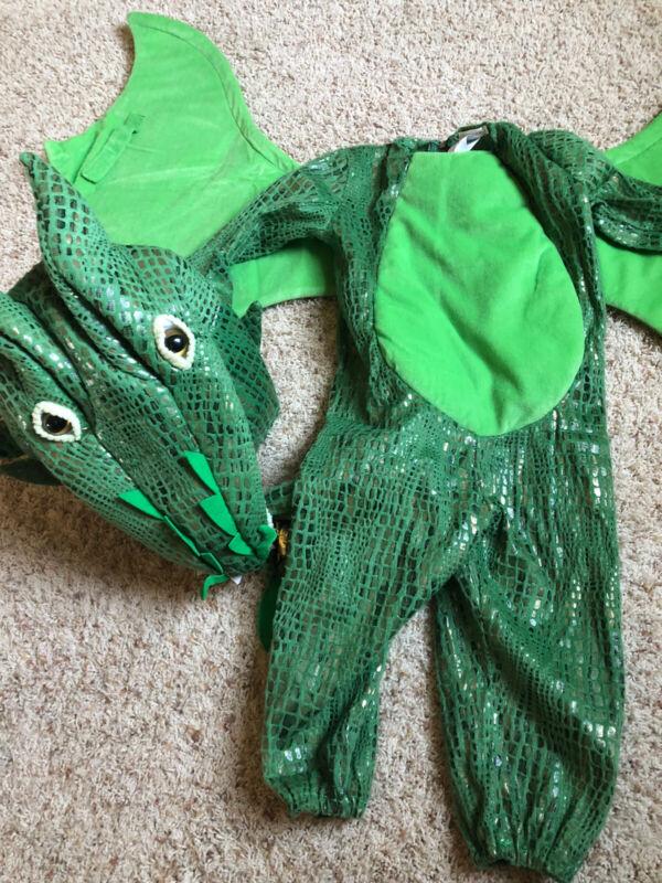 Pottery Barn Green Dinosaur Kid Size 3T Halloween Costume