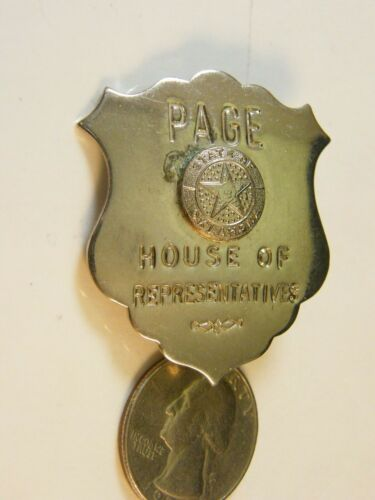 Rare Obsolete Oklahoma PAGE Officer Badge - House Of Representatives