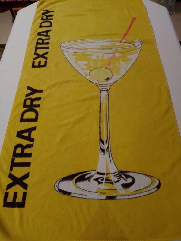 "Vintage Hilasal Extra Dry Martini Yellow Beach Towel 59"" x 30"""