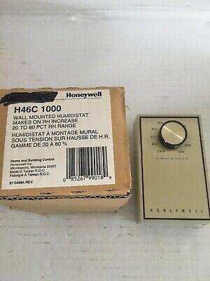 Honeywell H46c-1000 Wall Mounted Humidistat 20-80 Rh Range Nos