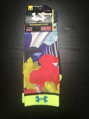Under Armour Heat Gear Performance Socks Sz 9-12.5 Large Brand New