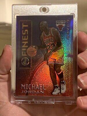 95-96 Michael Jordan Topps Finest Mystery Finest Borderless Gold Refractor